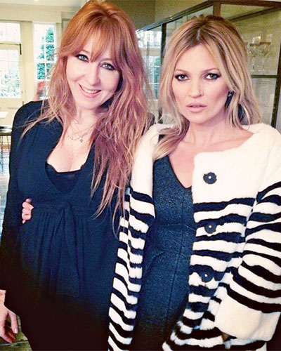"""Tilbury and """"great friend"""" Kate Moss first met on a shoot when they were both about 19. (Photography: courtesy of Charlotte Tilbury)"""
