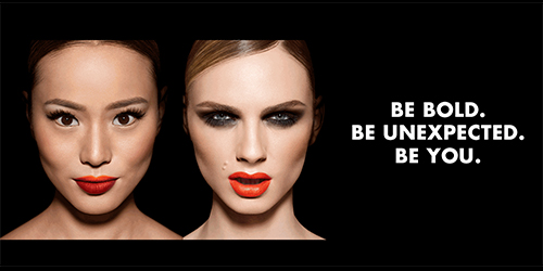 "Model Andreja Pejić (right) poses alongside actress Jamie Chung in the new ""Be Bold"" campaign"