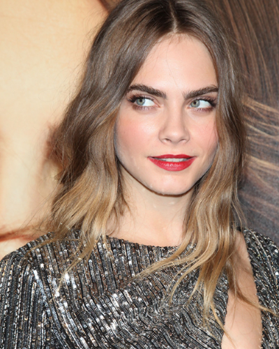 Famously bushy-browed model Cara Delevingne (photo: Gregory Pace/BEImages)