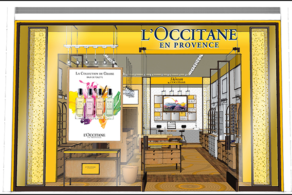 Rendering of L'Occitane's new boutique at the Toronto Eaton Centre
