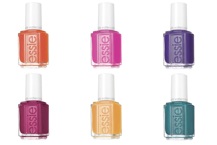 Essie Silk Watercolours Collection, $9 each, available Spring 2016 at drugstores