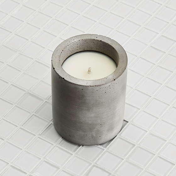 Cypress & Sage Soy Concrete Candle, $45