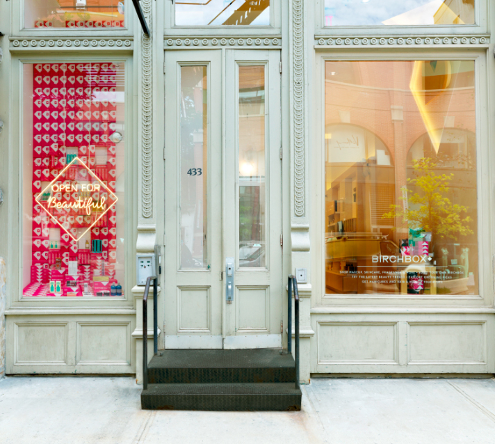 Birchbox's first store, opened July 2014 in SoHo, New York