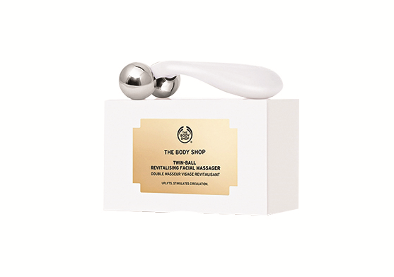 The Body Shop Twin-Ball Revitalising Facial Massager, $20, at The Body Shop