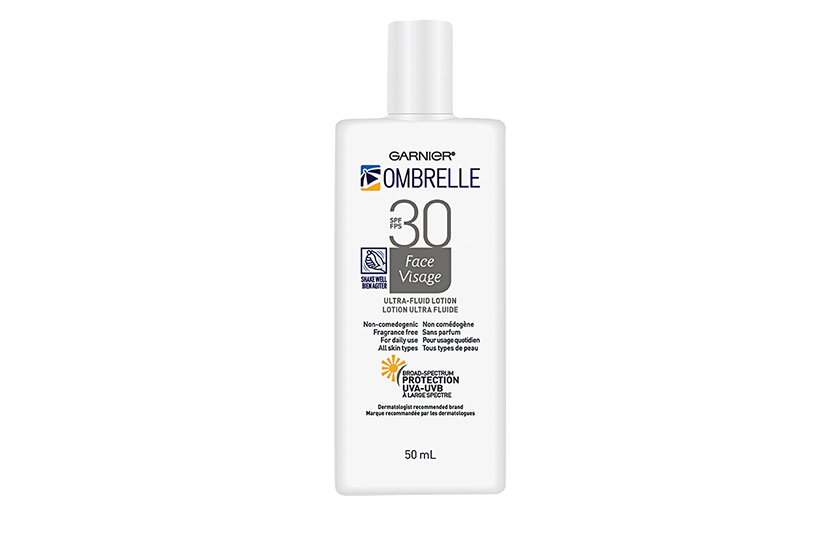 Garnier Ombrelle Ultra-Fluid SPF 30 Lotion for Face, $17