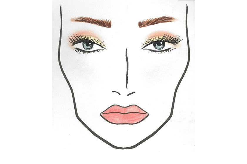 Face chart for Alexis Rose