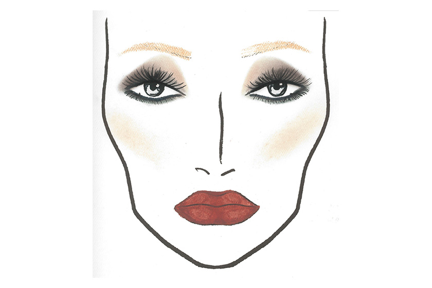 Face chart for Moira Rose