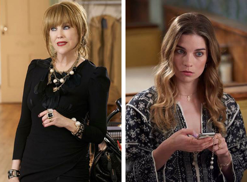 Catherine O'Hara (left) and annie murphy as moira and alexis rose on schitt's creek