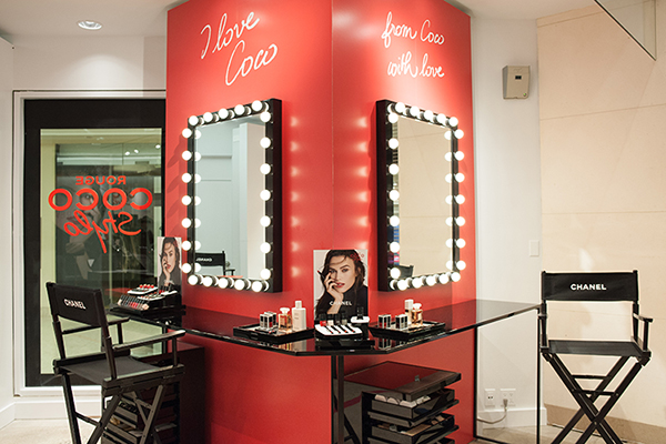 Chanel's All-Access Beauty installation at Holt Renfrew Bloor