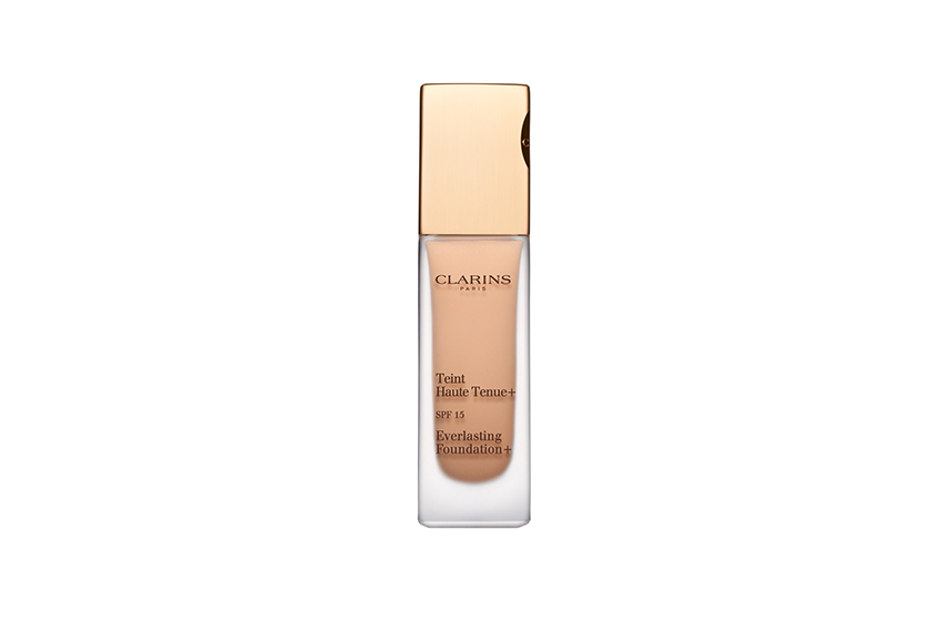 Organic quinoa extract works to preserve skin's suppleness.  Clarins Everlasting Foundation+, $42, at Clarins counters