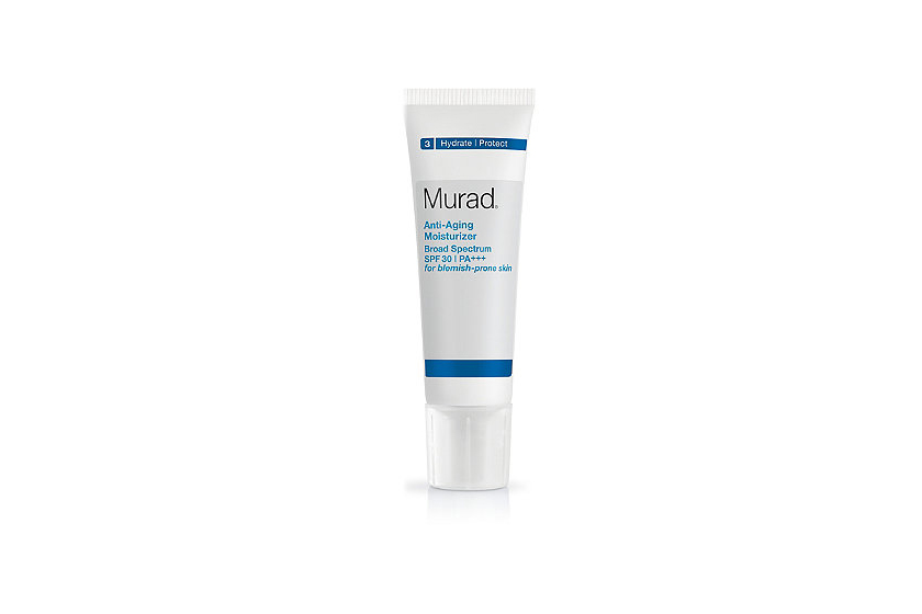 Kombucha, derived from black tea ferment, helps defend collagen.  Murad Anti-Aging Moisturizer, $58, at Sephora