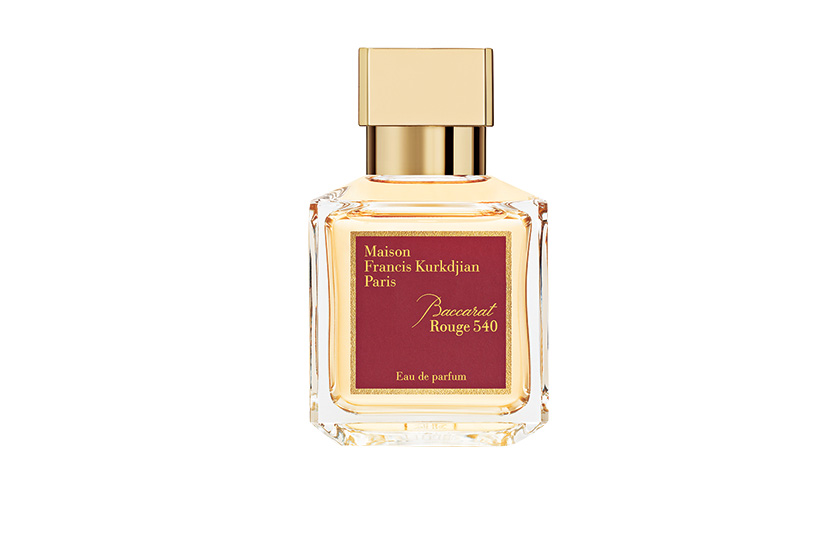 Maison Francis Kurkdjian Baccarat Rouge 540, an amber woody floral, was created for famed crystal-maker Baccarat.  $375, 70 mL EDP, at Saks Fifth Avenue