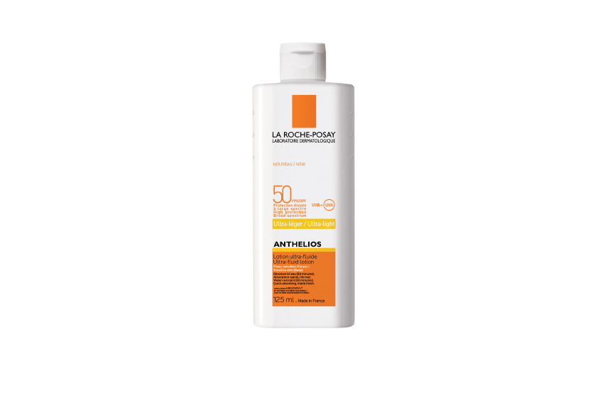 La Roche-Posay Anthelios SPF 50 Ultra-Fluid Lotion for the Body brings the watery-light feel of the brand's popular facial sunscreen to the body.  $36, at drugstores