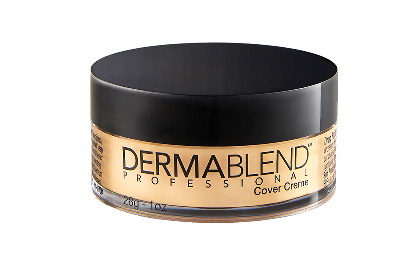 Dermablend Cover Creme, $44, promises transfer-resistant wear once locked in with the line's talc-based loose setting powder