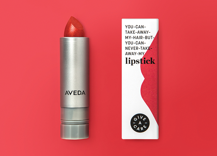 Rethink x Aveda Give-A-Care Lipstick, $24, available in three shades