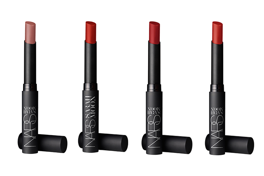 Nars Moon Matte Lipstick in (from left) Indecent Proposal, Rouge Improbable, Rouge Indiscret and Fearless Red, $36 each, available at all Nars retailers