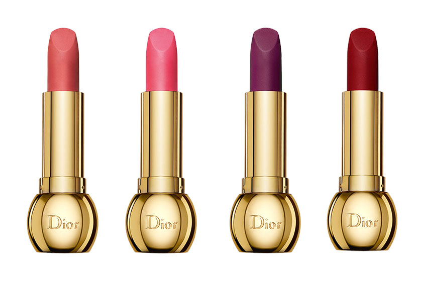 Dior Diorific Matte Lips in (from left) Golden, Charm, Ravissement, Fascination and Splendor, $46 each