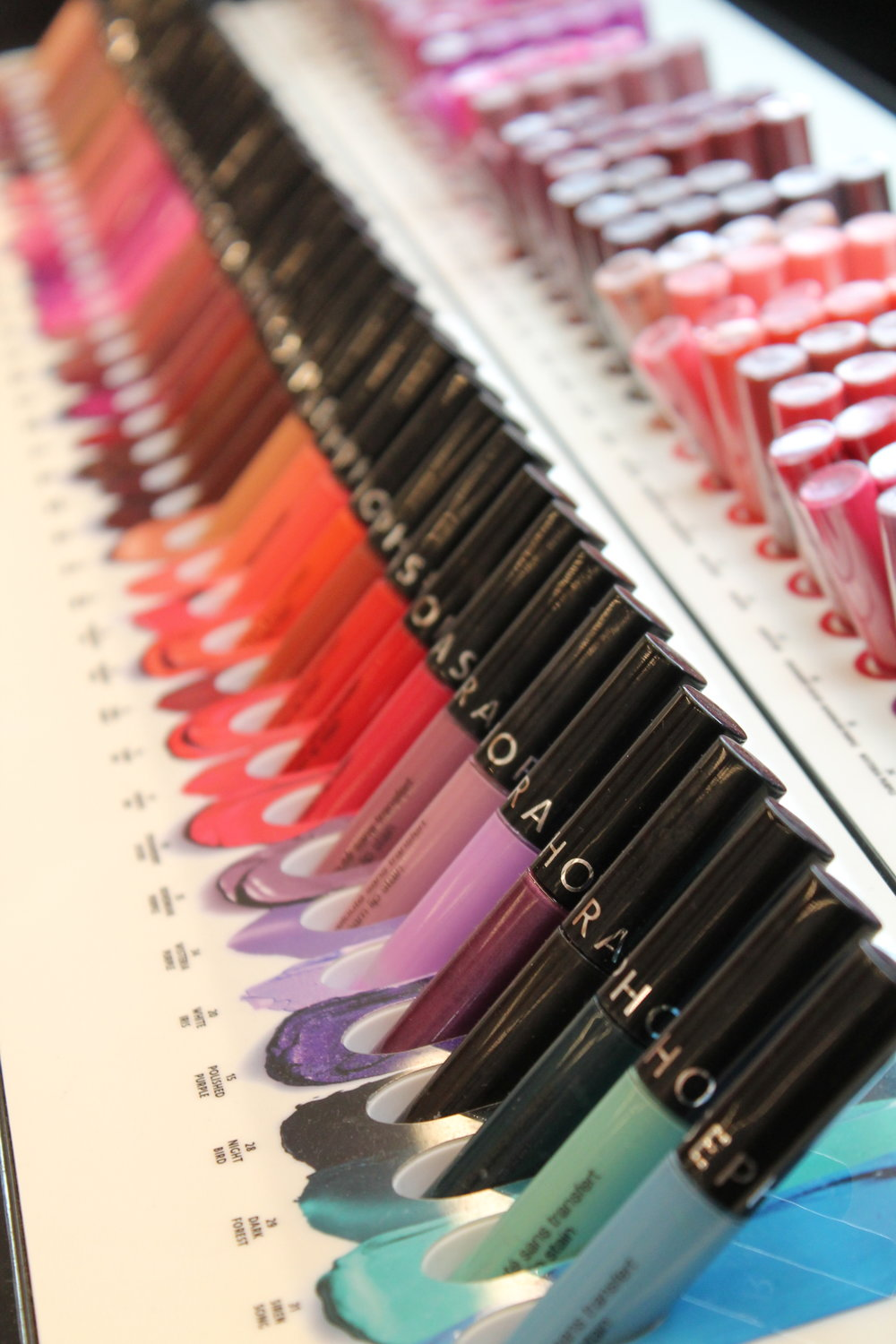 A rainbow of colour in Sephora's own cosmetics line.