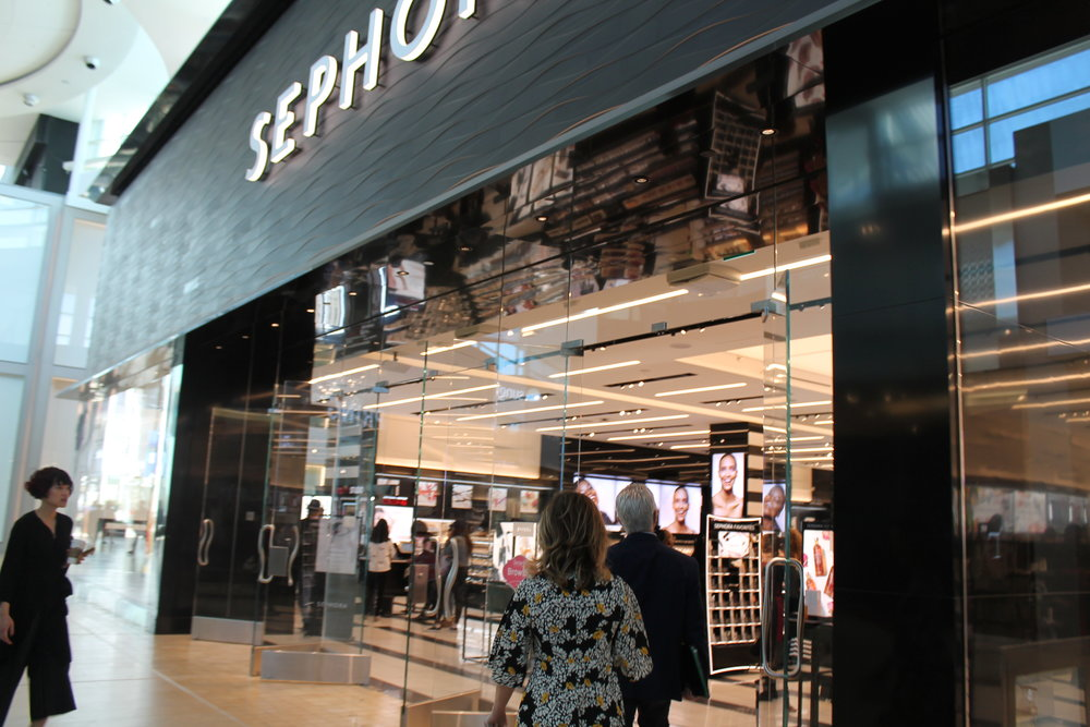 Approaching Sephora at Yorkdale Mall.
