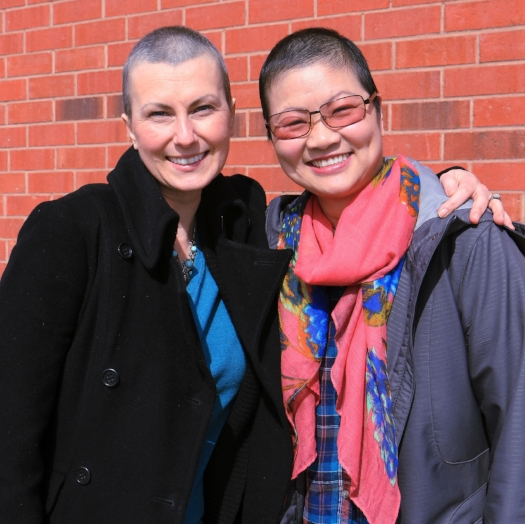 Lan and Yvette, two GTA-based women/best friends, were diagnosed with breast cancer within four days of each other. They attended Look Good Feel Better at Sunnybrook after worrying about how their hair loss would affect their family.