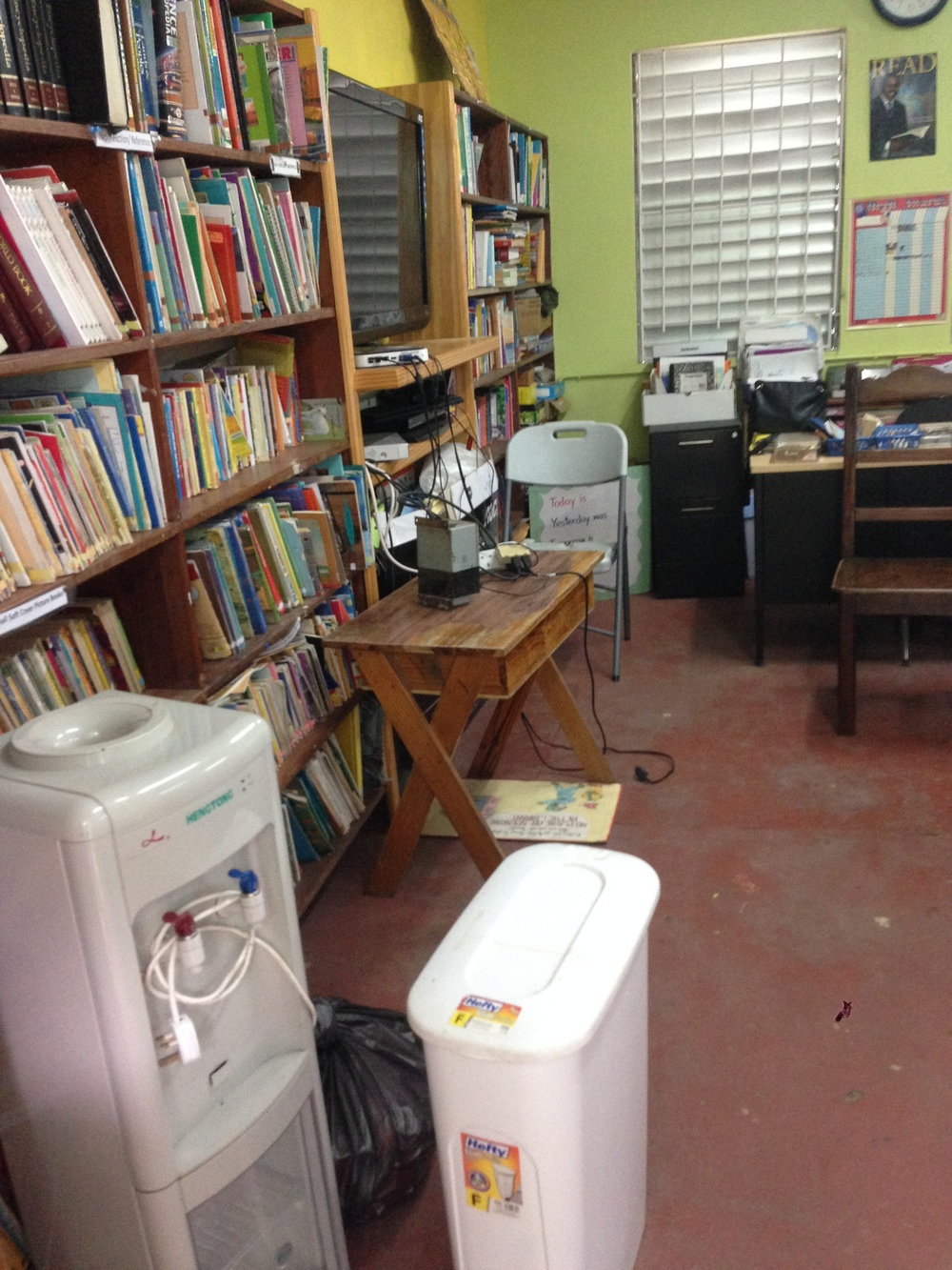 The good news is that there was a room that was designated as the library. This is not the case at some of the schools with Peace Corps Volunteers.