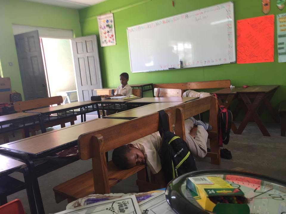 Five minutes after I took this pic, Rashad, the awake boy fell asleep too. The other two boys are asleep in a different corner of the room.