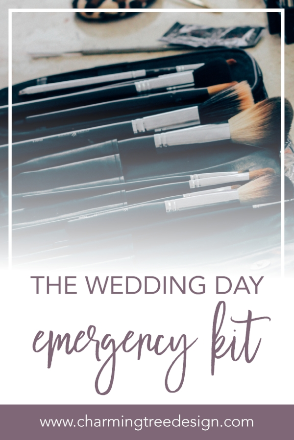 the Ultimate wedding day emergency kit - pin to reference when you put together your kit