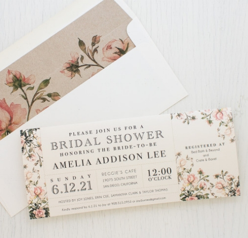 Bridal Shower Invitation by Beacon Lane