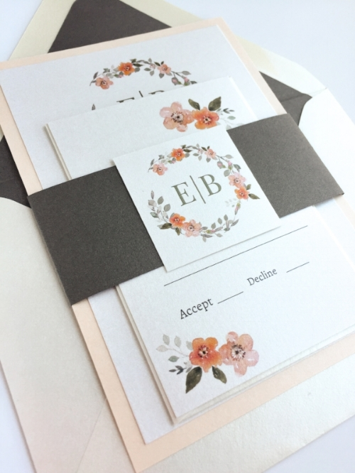 Wedding Invitation Suite by Charming Tree Design