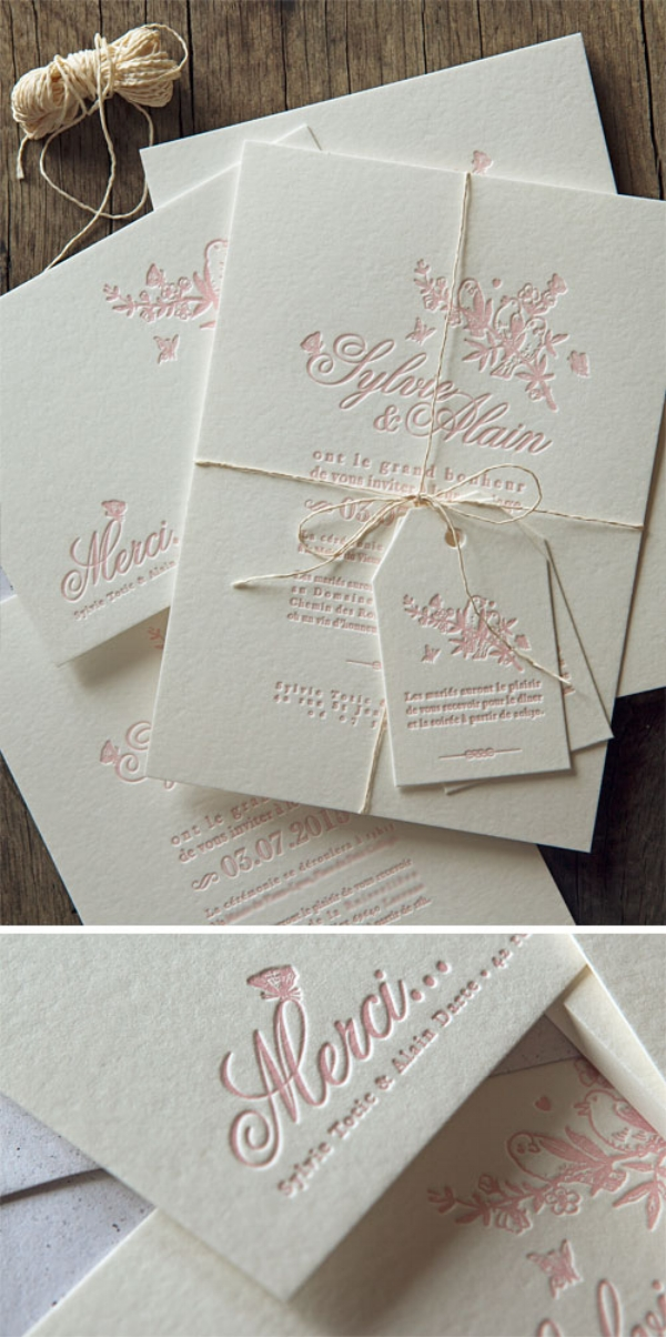 Letterpress Invitation Suite by Cocorico