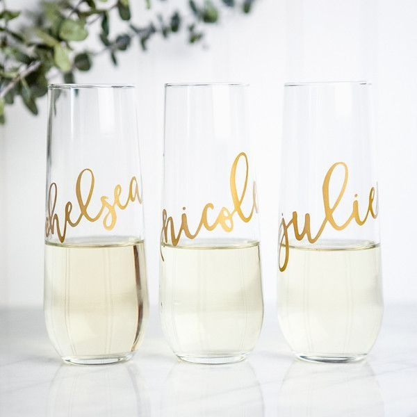 Personalized Stemless Flutes by Foxblossom Co.