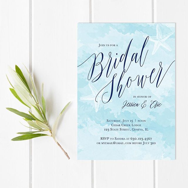 For those of you who saw the message in a bottle invitations I posted, this is the design I created for the invitation that rolls up inside.  Loving the beach theme right now since summer is just about here! . . . . #futuremrs #bridetobe #weddinginspiration #brideandgroom #summerwedding #weddingplanning #flashesofdelight #beachwedding #thehappynow #weddingideas #beachbridalshower #darlingmovement #risingtidesociety #lovelysquares #persuepretty #solovely #watercolorinvitation  #bridalshowerinvitation #starfish #romanticbride #messageinabottle #bridalshowerinvitation #genevailwedding #genevaillinois #invitationdesign