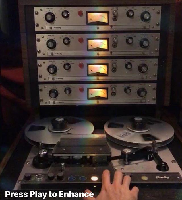Alchemy 🍯 #enhance #pressplay #oldschool #newmusic #recordingstudio #rainbowwarriors #tape #analog #heaven #record @kizmitbk