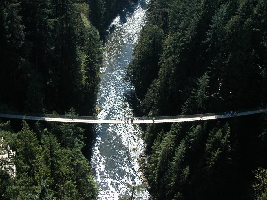 carillon suspension bridge and grouse mountain