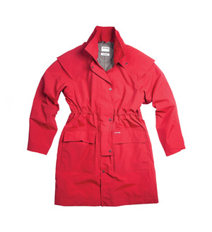Cavendish Coat Red   The famous Short Coat in our intelligent, breathable machine-washable Nylon Supplex fabric. Modern and easy to pack for travel, the Cavendish maintains all the features and waterproofing qualities of the Oilskin Short Coat, in a more lightweight, user-friendly fabric. Ideal for rainy days or trips away, the Cavendish Coat a great option for women who need something practical, reliable and durable.  $219.00