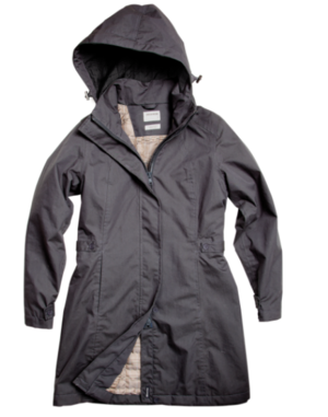 Lauriston Quilted Raincoat Military   With all the same functionality and durability of our men's range, our selection of raincoats for women are practical, reliable and designed with the female form in mind. The Lauriston Quilted Raincoat is made using Cotton Nylon, a fabric that takes all the smarts of nylon and retain all the qualities you love about cotton. With all the style of a trench, the Lauriston is tailored, lightweight and completely stormproof.  $319.00