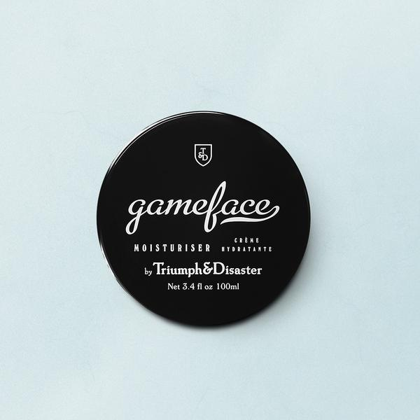Gameface Moisturiser 100ml - $58.00   Gameface moisturiser is a tool to serve and protect you against the elements.Specifically engineered to be light on the skin and easily absorbed, Gameface is a unique formulation of Jojoba extract, Horopito oil, Ponga fern ( Cumingii ) and Vitamin E, combined with a subtle infusion of essential oils to deliver a fragrance we call 'smoke and wood'. The result is a nutrient rich, hydrating cream that will leave skin feeling toned, supple and fresh.