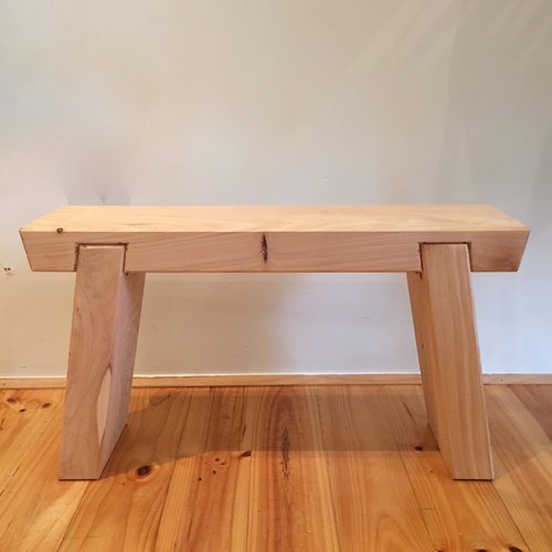 Asian Bench   Locally made from local Cyprus timber.  Available in NATURAL or BLACK  Each piece is an individual piece. We can make to your specifications  $220.00