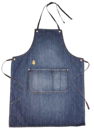 Indigo Unisex Denim Apron with Front Pocket - $69.95   A premium quality unisex indigo denim apron you don't need to take off to answer the door! Easy care and long wearing.   100% Cotton  (Body length is approx 87cm from top to hem and 62cm across widest part-not including strap)