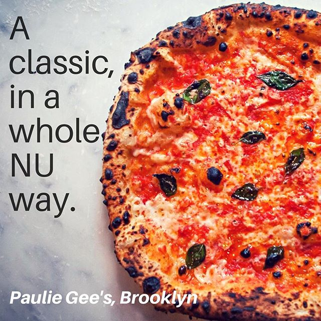All the best of a classic pizza, no animals required! Try all the incredible vegan pizzas at @pauliegee123 in Greenpoint, Brooklyn -many feature NUMU Vegan Mozzarella, and homemade fennel sausage and even jackfruit meatballs 😄