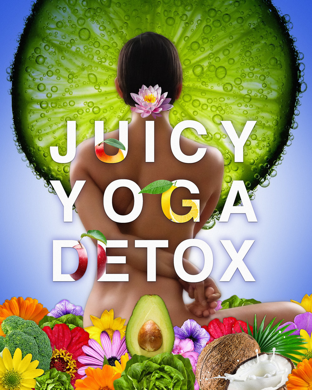 Green JUice & Yoga Detox Poster - Photo & Design