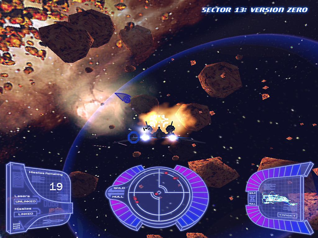 A screenshot from the first version of Sector 13 in 2004.