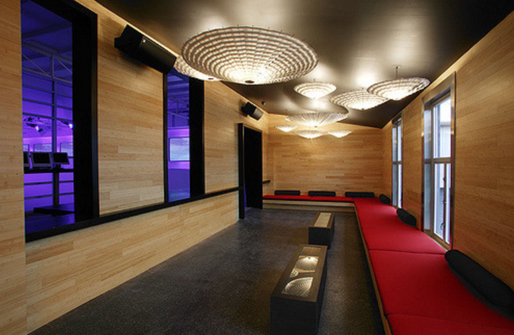 One of the unique lounge areas that was featured on site