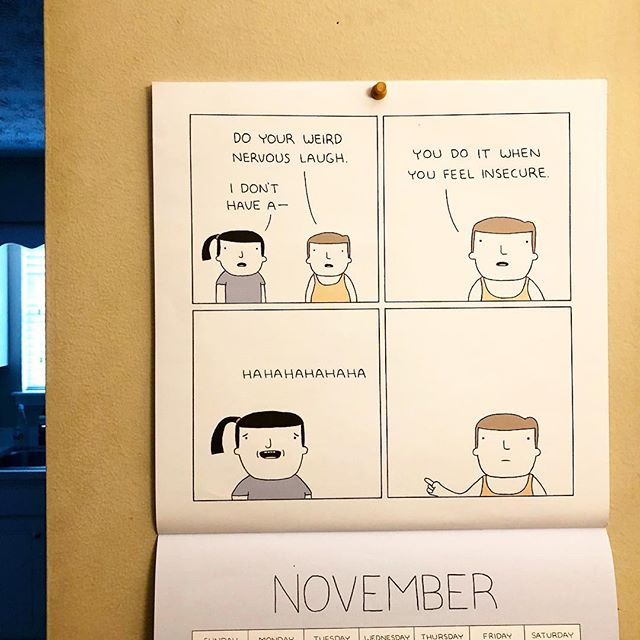 Happy (belated) November!  Don't be ashamed of your awkward laugh and enjoy your weekend. . . . . Also happy Election Day and 5th of November (also belated)! #remember #beheard . . #never #too #late #for #comics #democracy #or #guyfawkes #friday #fridaynight #weekend #motivation #getit #itllbeokay #turkey #month #fam #wubbalubbadubdub #haveagoodday