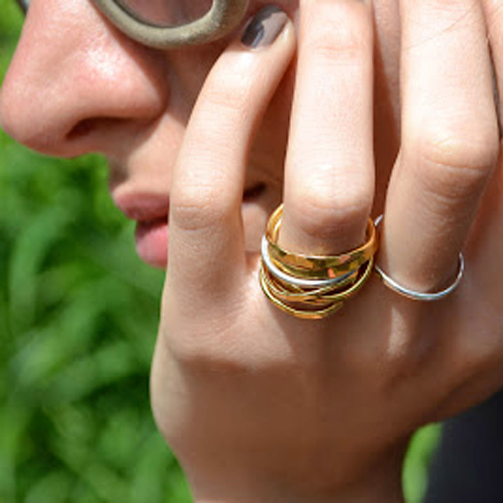 GOLD & SILVER STACKING RINGS