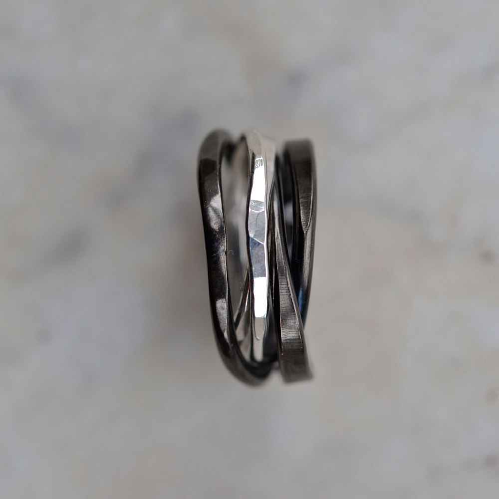 RUTHENIUM & SILVER RING