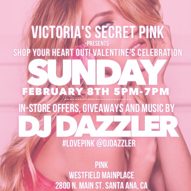 Today, join me for the @vspink #valentinesday shopping event of the year at @westfieldmainplace in #OC! #victoriassecret #vspink #lovepink #valentine