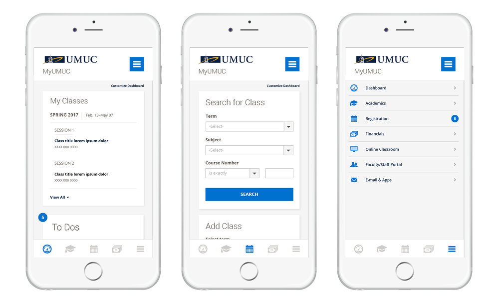 UMUC Student Portal Redesign