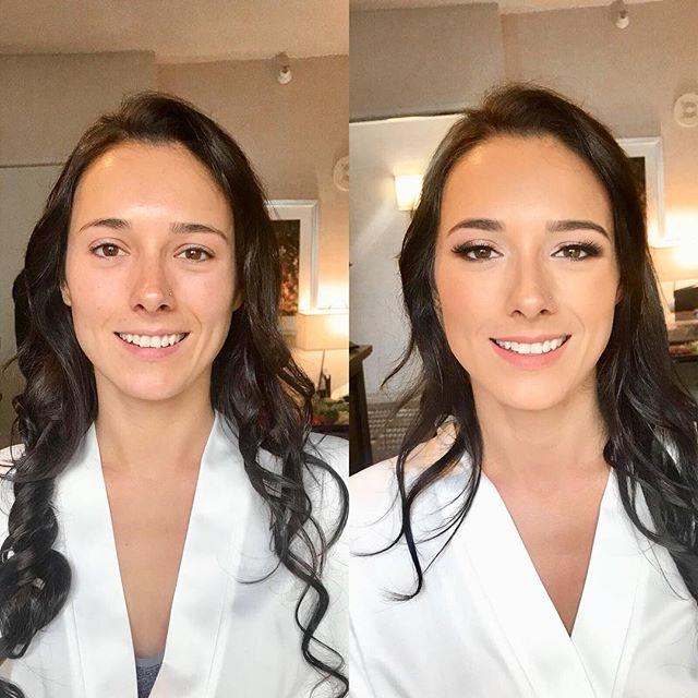 Soft glam makeup for Rachel's wedding last week.✨