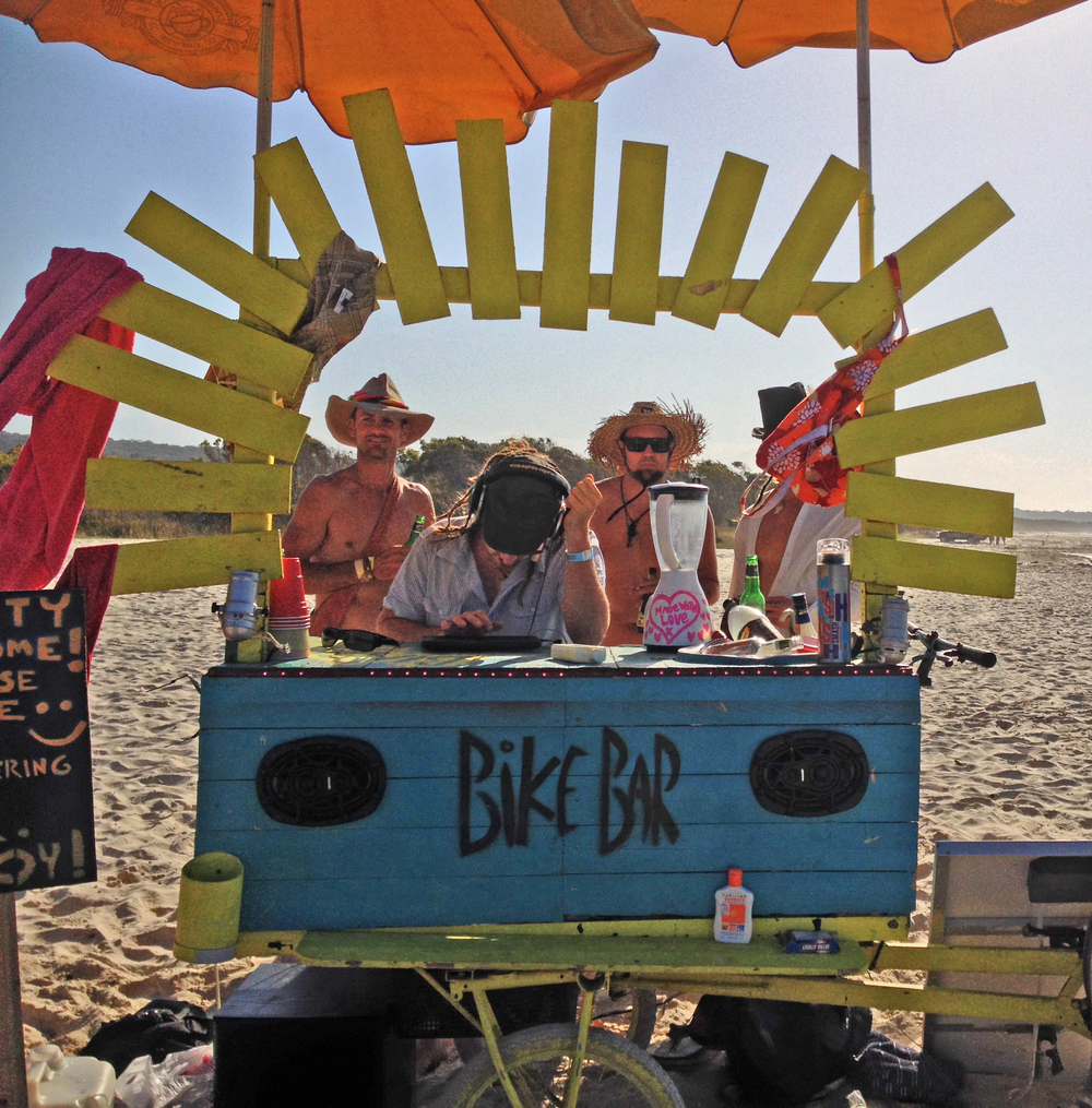 Bike Bar rockin out on Straddie beach.JPG